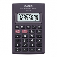 Calculadora Bolso Casio Hl-4a-w 08 Dig