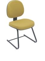 Cadeira Digitador E N Italia Lisa Fixa Base S Mostarda
