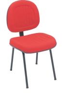 Cadeira Digitador E N Italia Goma Fixa 04 Pes Vermelho