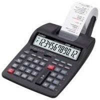Calculadora Mesa Casio Hr-100tm-bk-a C/ Bobina 12 Dig
