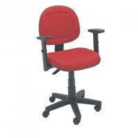 Cadeira Digitador E N Italia Goma Girat Base Gas Vermelho