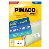 Etiqueta Pimaco 4360 38,1 X 63,5