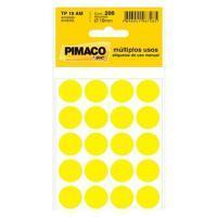 Etiqueta Bola Pimaco 19mm Amarelo