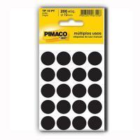 Etiqueta Bola Pimaco 19mm Preto