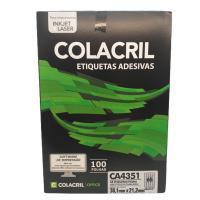 Etiqueta Cola Cril 21,2 X 38,1 Ca4351 4077