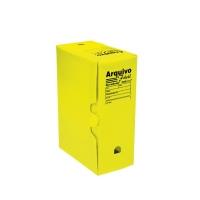 Arquivo Morto Plastico Polibras Amarelo