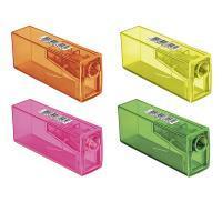 Apontador C/ Deposito Faber Castell 125flvzf Neon