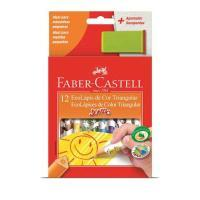 Lapis Cor Faber Castell 12 Cores 12.3012ap/l Jumbo