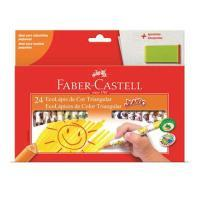 Lapis Cor Faber Castell 24 Cores 12.3024ap/l Jumbo