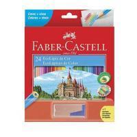 Lapis Cor Faber Castell 24 Cores 120124+1apt C/ Apontador C/