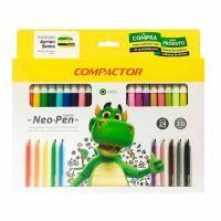 Caneta Hidrog Compactor 24 Cores 15141-6 Neo Pen