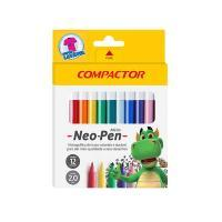 Caneta Hidrog Compactor Neon Pen 12 Cores 15831-9 Mirin