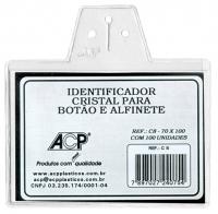 Cracha Identificador Acp C8 Cristal Plastico