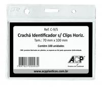 Cracha Identificador Acp C9/s Cristal Plastico Horizontal