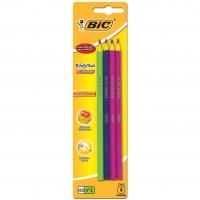 Lapis Grafite Bic N2hb (com 4) Colors Evolution