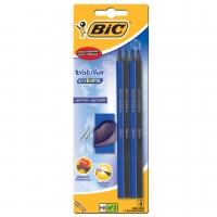 Lapis Grafite Bic N2hb (com 4) Preto E Azul Evolution